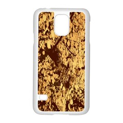 Abstract Brachiate Structure Yellow And Black Dendritic Pattern Samsung Galaxy S5 Case (white)