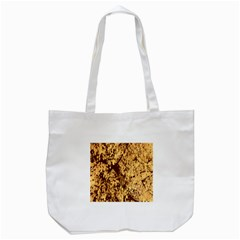 Abstract Brachiate Structure Yellow And Black Dendritic Pattern Tote Bag (White)