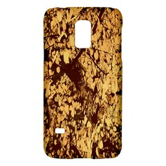 Abstract Brachiate Structure Yellow And Black Dendritic Pattern Galaxy S5 Mini