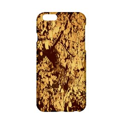 Abstract Brachiate Structure Yellow And Black Dendritic Pattern Apple iPhone 6/6S Hardshell Case