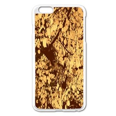 Abstract Brachiate Structure Yellow And Black Dendritic Pattern Apple Iphone 6 Plus/6s Plus Enamel White Case