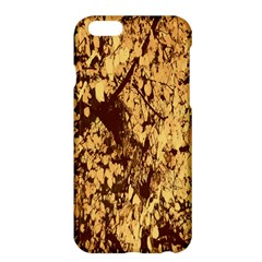 Abstract Brachiate Structure Yellow And Black Dendritic Pattern Apple iPhone 6 Plus/6S Plus Hardshell Case