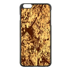 Abstract Brachiate Structure Yellow And Black Dendritic Pattern Apple Iphone 6 Plus/6s Plus Black Enamel Case