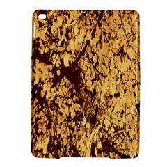 Abstract Brachiate Structure Yellow And Black Dendritic Pattern Ipad Air 2 Hardshell Cases