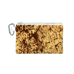 Abstract Brachiate Structure Yellow And Black Dendritic Pattern Canvas Cosmetic Bag (s)
