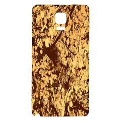 Abstract Brachiate Structure Yellow And Black Dendritic Pattern Galaxy Note 4 Back Case