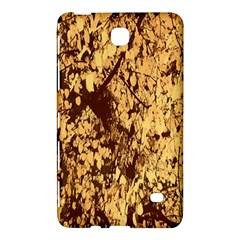 Abstract Brachiate Structure Yellow And Black Dendritic Pattern Samsung Galaxy Tab 4 (8 ) Hardshell Case