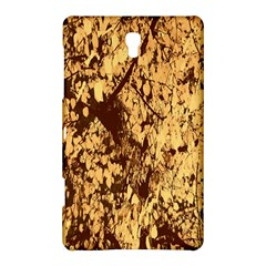 Abstract Brachiate Structure Yellow And Black Dendritic Pattern Samsung Galaxy Tab S (8 4 ) Hardshell Case