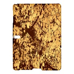 Abstract Brachiate Structure Yellow And Black Dendritic Pattern Samsung Galaxy Tab S (10.5 ) Hardshell Case