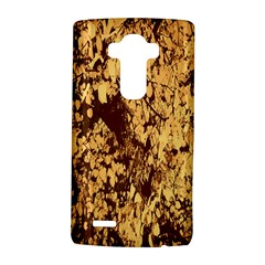 Abstract Brachiate Structure Yellow And Black Dendritic Pattern LG G4 Hardshell Case