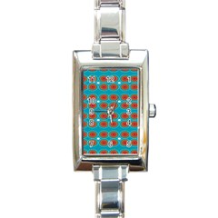 Floral Seamless Pattern Vector Rectangle Italian Charm Watch