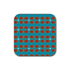 Floral Seamless Pattern Vector Rubber Square Coaster (4 Pack)