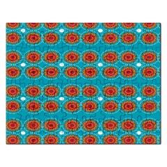 Floral Seamless Pattern Vector Rectangular Jigsaw Puzzl