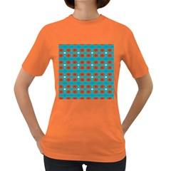 Floral Seamless Pattern Vector Women s Dark T Shirt