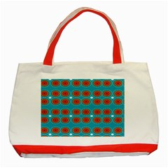 Floral Seamless Pattern Vector Classic Tote Bag (red)