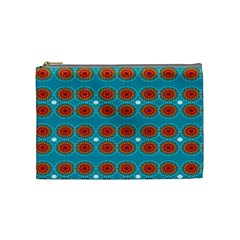 Floral Seamless Pattern Vector Cosmetic Bag (Medium)