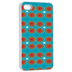 Floral Seamless Pattern Vector Apple iPhone 4/4s Seamless Case (White)