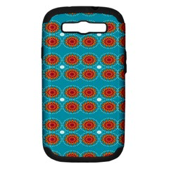 Floral Seamless Pattern Vector Samsung Galaxy S III Hardshell Case (PC+Silicone)