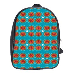 Floral Seamless Pattern Vector School Bags (XL)