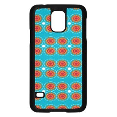 Floral Seamless Pattern Vector Samsung Galaxy S5 Case (black)