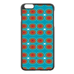 Floral Seamless Pattern Vector Apple Iphone 6 Plus/6s Plus Black Enamel Case