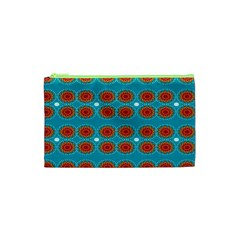Floral Seamless Pattern Vector Cosmetic Bag (xs)