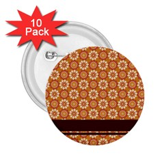 Floral Seamless Pattern Vector 2.25  Buttons (10 pack)