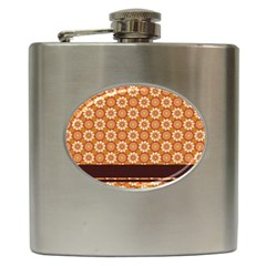 Floral Seamless Pattern Vector Hip Flask (6 Oz)