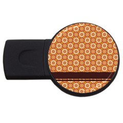 Floral Seamless Pattern Vector USB Flash Drive Round (1 GB)