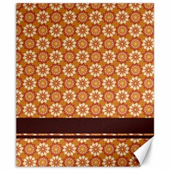 Floral Seamless Pattern Vector Canvas 8  x 10