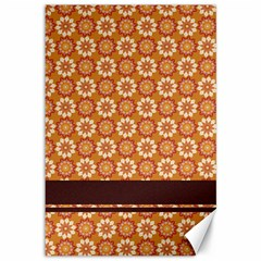 Floral Seamless Pattern Vector Canvas 12  x 18