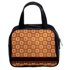 Floral Seamless Pattern Vector Classic Handbags (2 Sides)