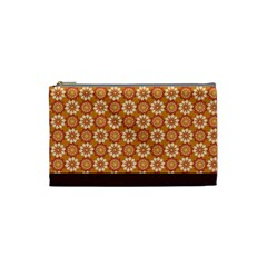Floral Seamless Pattern Vector Cosmetic Bag (small)
