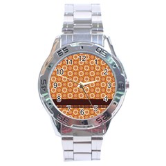 Floral Seamless Pattern Vector Stainless Steel Analogue Watch