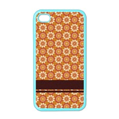 Floral Seamless Pattern Vector Apple Iphone 4 Case (color)