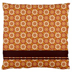 Floral Seamless Pattern Vector Large Cushion Case (two Sides)