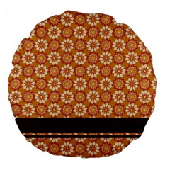 Floral Seamless Pattern Vector Large 18  Premium Round Cushions