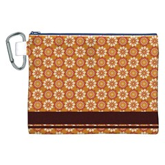 Floral Seamless Pattern Vector Canvas Cosmetic Bag (xxl)