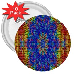 A Creative Colorful Backgroun 3  Buttons (10 pack)