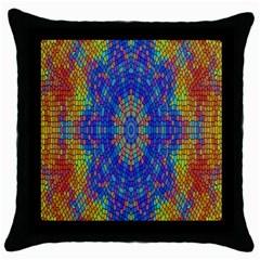 A Creative Colorful Backgroun Throw Pillow Case (black)
