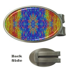 A Creative Colorful Backgroun Money Clips (oval)