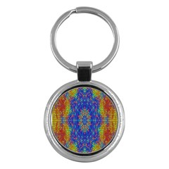 A Creative Colorful Backgroun Key Chains (round)