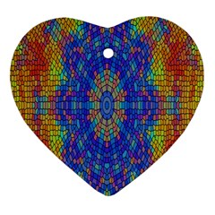 A Creative Colorful Backgroun Heart Ornament (Two Sides)