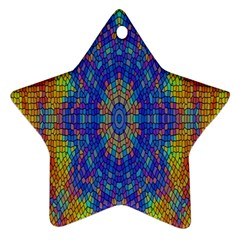 A Creative Colorful Backgroun Star Ornament (Two Sides)