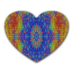 A Creative Colorful Backgroun Heart Mousepads