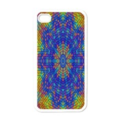 A Creative Colorful Backgroun Apple iPhone 4 Case (White)