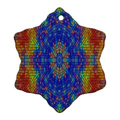 A Creative Colorful Backgroun Snowflake Ornament (Two Sides)