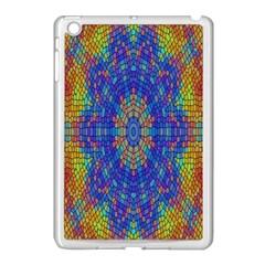 A Creative Colorful Backgroun Apple iPad Mini Case (White)