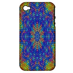 A Creative Colorful Backgroun Apple iPhone 4/4S Hardshell Case (PC+Silicone)