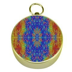 A Creative Colorful Backgroun Gold Compasses